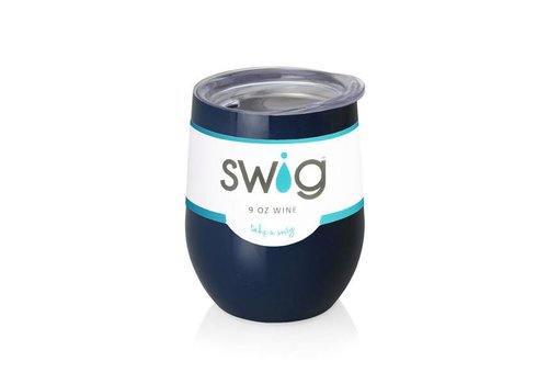 Swig Swig 12oz Wine Navy Blue