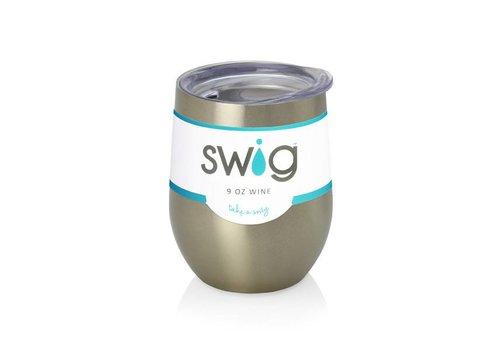 Swig Swig 9 oz Wine Gold