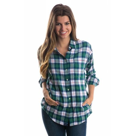 Boyfriend Flannel Hunter Green