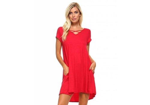 Corner Clothing Criss Cross Front Dress