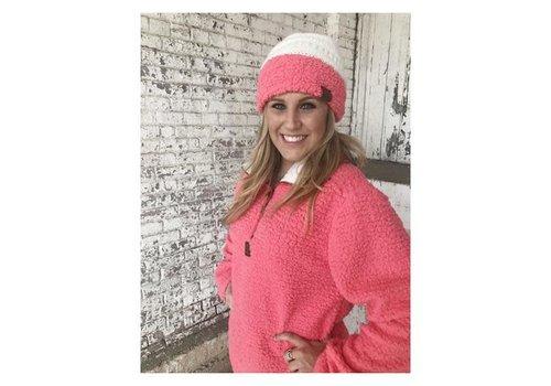Girlie Girl Girlie Girl Sherpa Pullover Coral / Pink