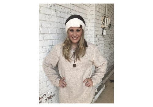 Girlie Girl Girlie Girl Sherpa Pullover Taupe