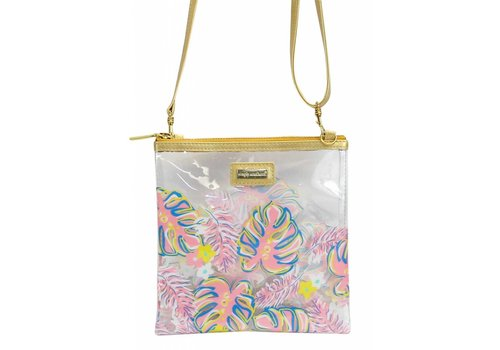 Simply Southern Simply Southern Leaves Clear Crossover Bag