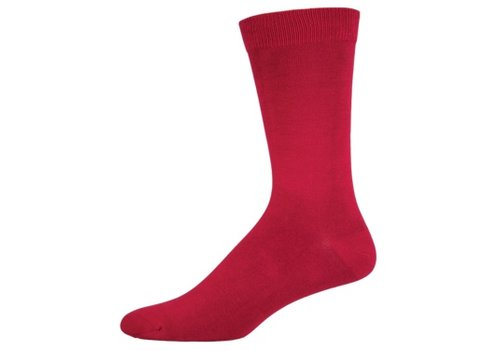 SockSmith Sock Smith Solid Crimson Size 10-13