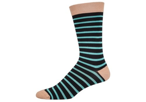 SockSmith Sock Smith Sailor Stripe Black/Brush Size 10-13
