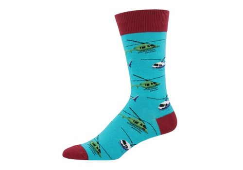 SockSmith Sock Smith Helicopters Turquoise Size 10-13