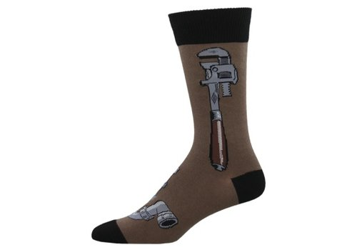 SockSmith Sock Smith Monkey Wrench Brown Size 10-13