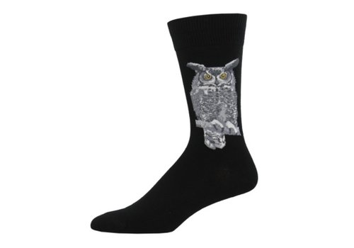 SockSmith Sock Smith Great Horned Owl Black Size 10-13