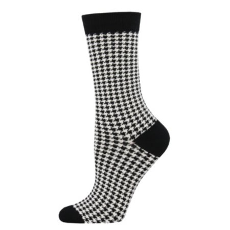 Women's Small Houndstooth White Size 9-11