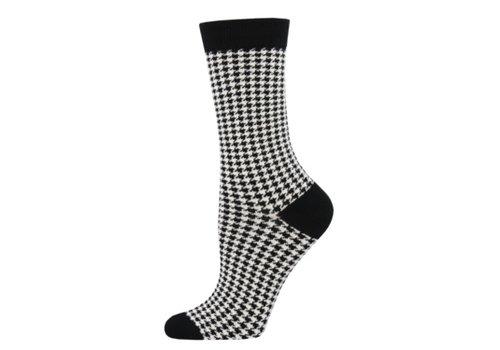 SockSmith Sock Smith Small Houndstooth White Size 9-11