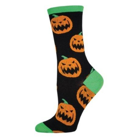Women's Halloween Pumpkins Black Size 9-11