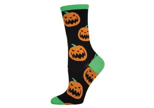 SockSmith Sock Smith Halloween Pumpkins Black Size 9-11