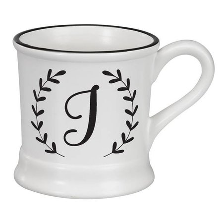 Monogram Ceramic Mug - J