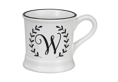 Monogram Ceramic Mug - W