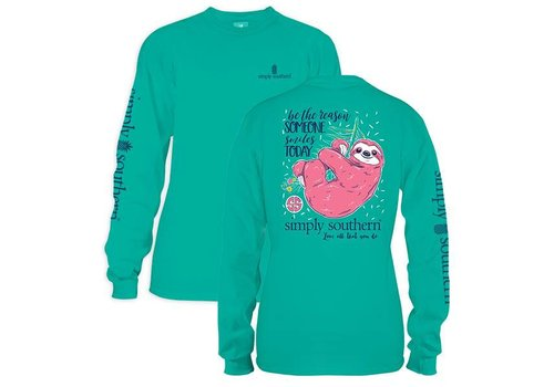 Simply Southern Simply Southern Sloth Smile LS