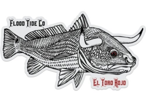 Flood Tide Co. El Toro Rojo Box Sticker