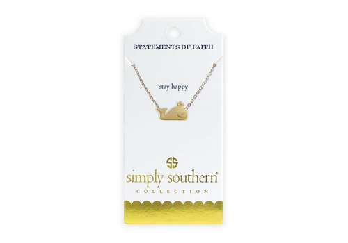 Simply Southern Simply Southern Gold Necklace Happy