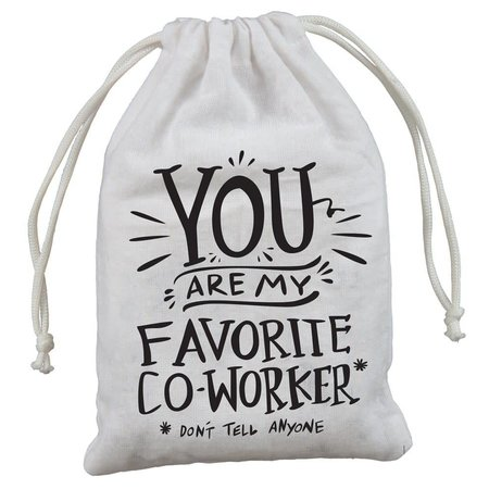 """4-Pack Gift Bags - Favorite Co-worker 5"""" x 7.50"""""""