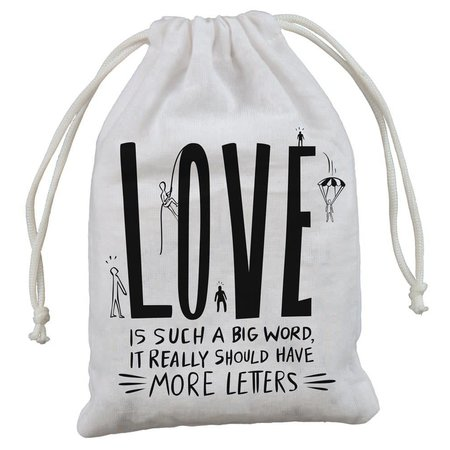 """4-Pack Gift Bags - Love 5"""" x 7.50"""""""