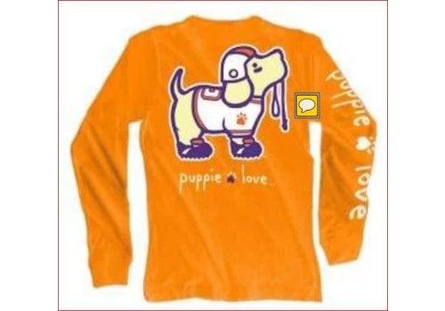 Puppie Love Puppie Love Football Orange L/S
