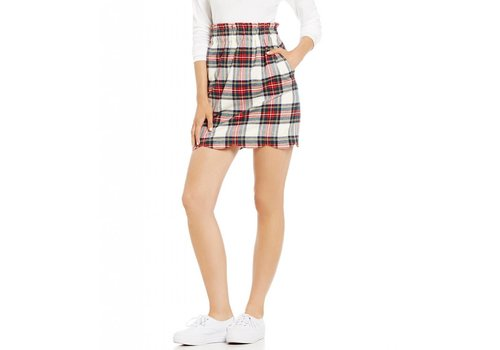 Lauren James Lauren James Scallop Plaid Flannel Skirt