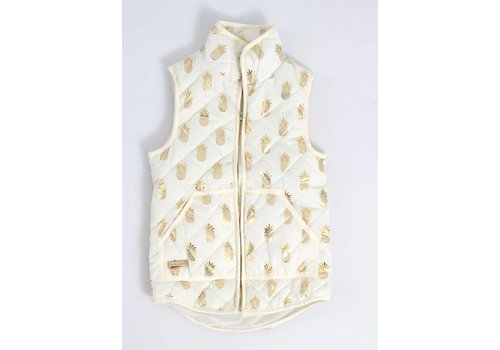 Simply Southern Simply Southern Quilted Vest Pineapple Cream