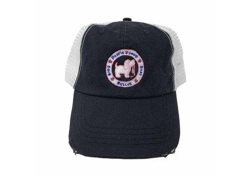 Puppie Love Puppie Love Logo Navy Trucker Hat