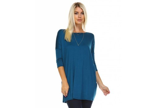 Corner Clothing 3/4 Ballet Sleeve Tunic Teal