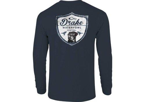 Drake Drake Lab Shield Long Sleeve Tee Midnight