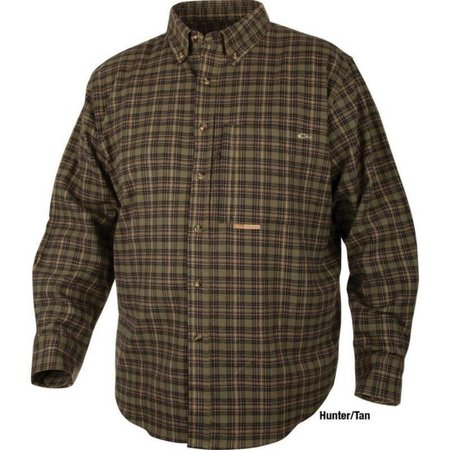 Autumn Brushed Twill Shirt Hunter/Tan
