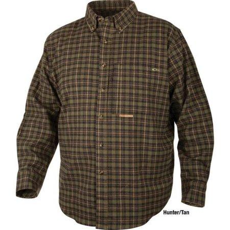 Drake Autumn Brushed Twill Shirt Hunter/Tan