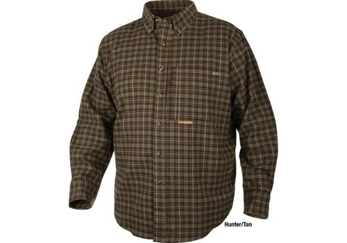 Drake Drake Autumn Brushed Twill Shirt Hunter/Tan