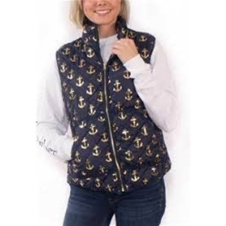 Quilted Vest Anchor Navy