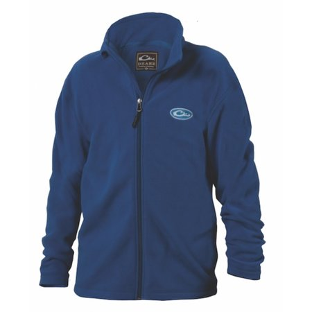 Drake Youth Camp Fleece Full Zip Blue