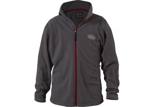 Drake Drake Youth Camp Fleece Full Zip Gray