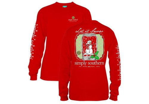 Simply Southern Simply Southern Let it Snow LS Red