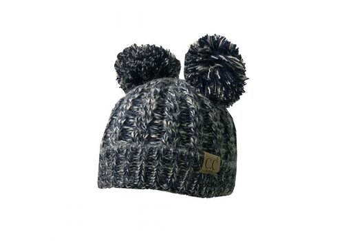 CC Navy Beanie with Ears YOUTH