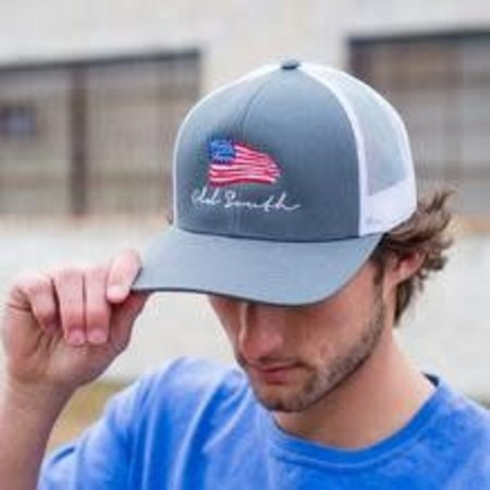Flag Trucker Hat Graphite
