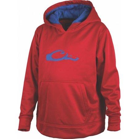 Drake Youth Performance Logo Hoodie Red/Blue