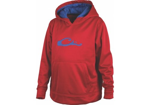 Drake Drake Youth Performance Logo Hoodie Red/Blue