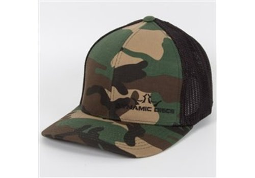 Dynamic Discs Camo Fitted Trucker Mesh Hat Black