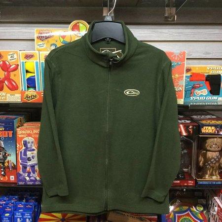 Drake Youth Camp Fleece Full Zip Green