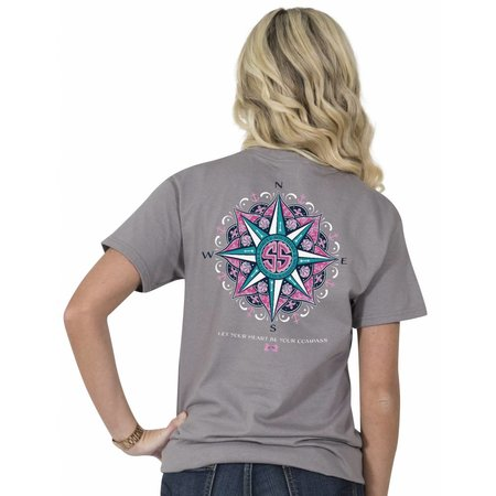 Preppy Let Your Heart Be Your Compass T-Shirt