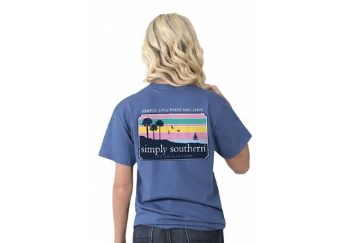 Simply Southern Simply Southern Preppy Beach Scene T-Shirt