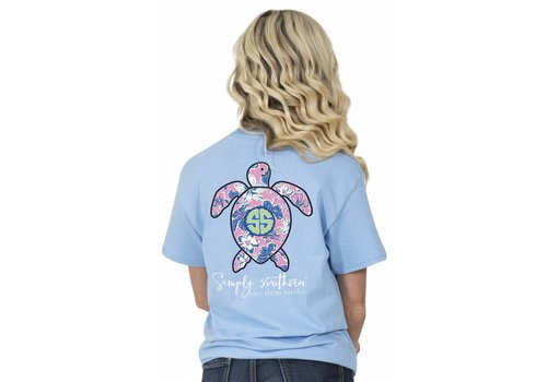 Simply Southern Simply Southern Save The Turtles Hibiscus T-Shirt