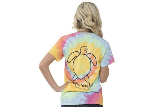 Simply Southern Simply Southern Save The Turtles Tie Dye Logo T-Shirt
