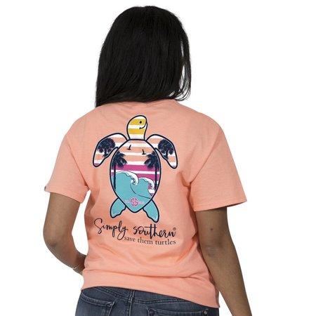 Save The Turtles Palm Tree T-Shirt