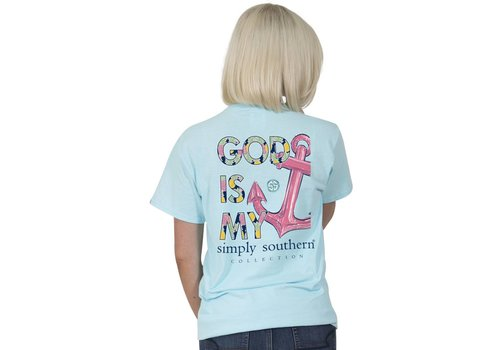 Simply Southern Simply Southern God is My Anchor Youth T-Shirt