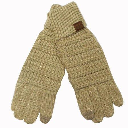 CC Metallic Gold Gloves
