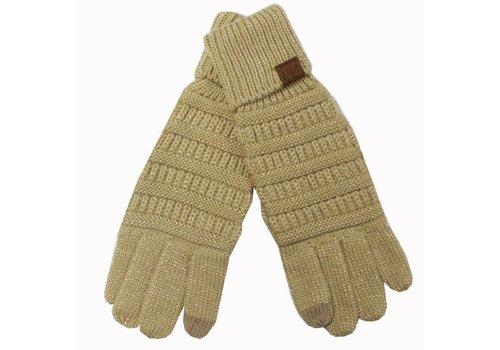 C.C Metallic Gold Gloves